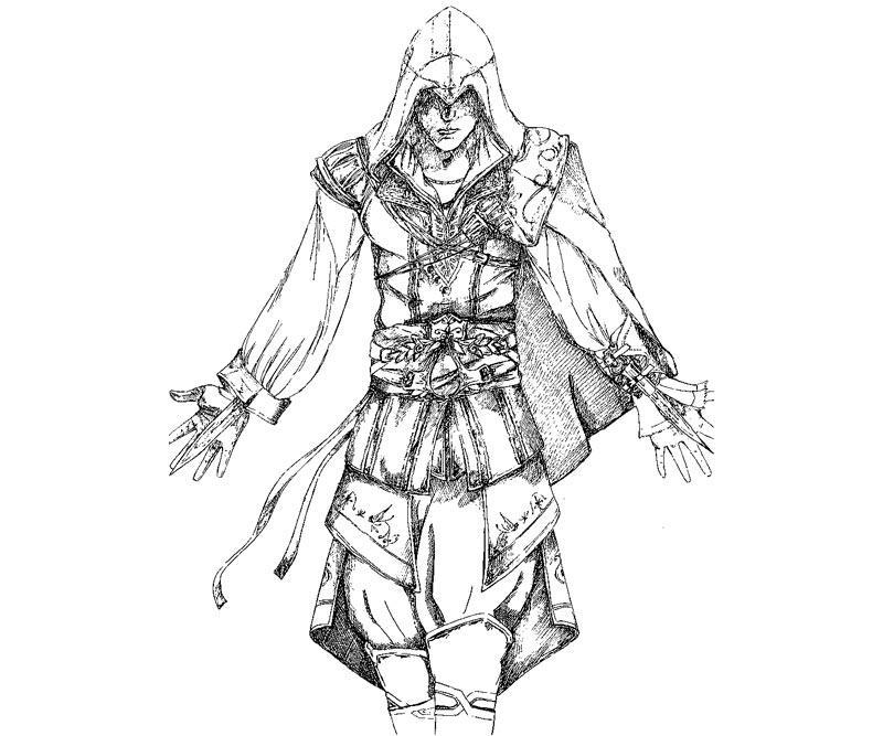 Assassin coloring #9, Download drawings