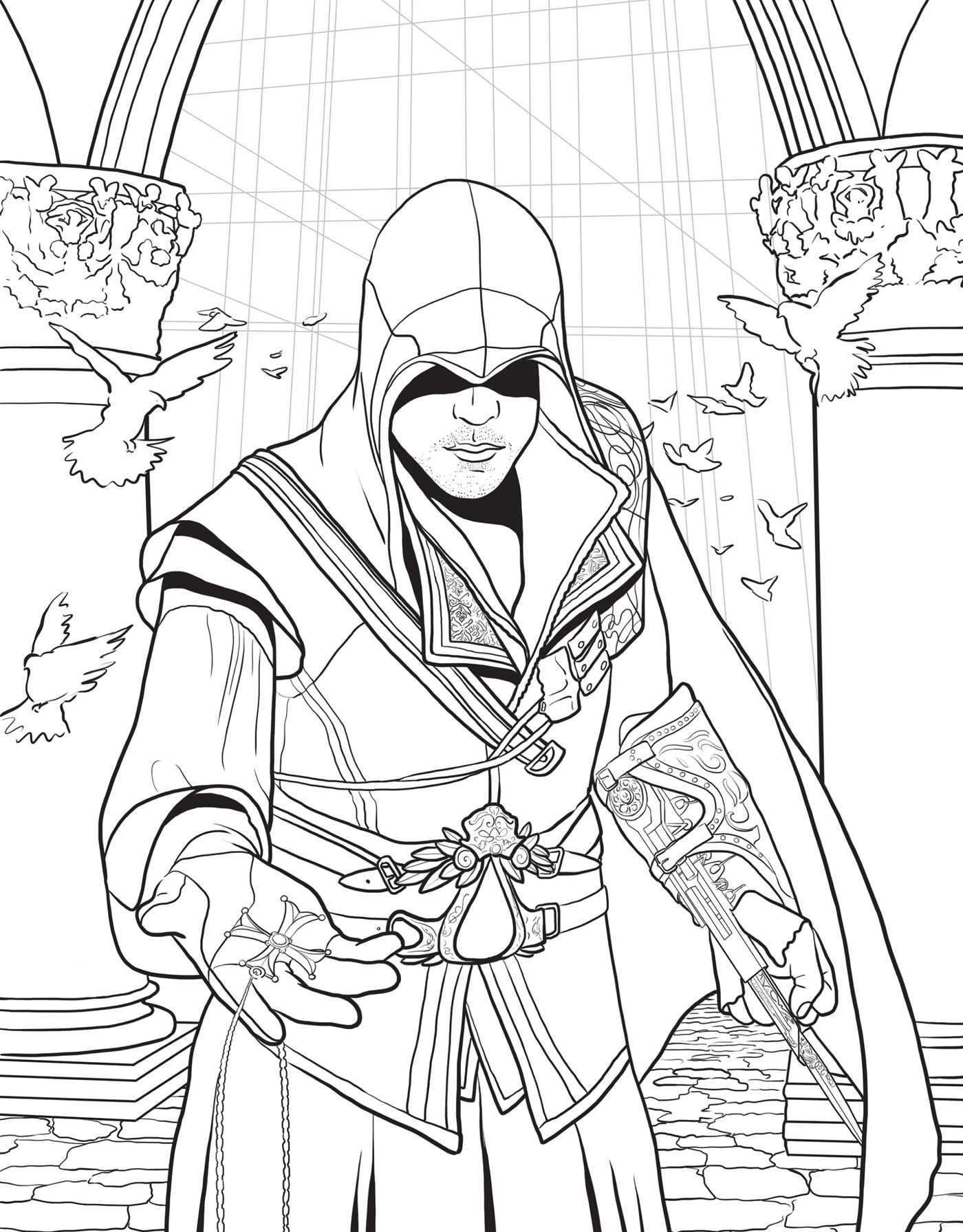 Assassin coloring #5, Download drawings
