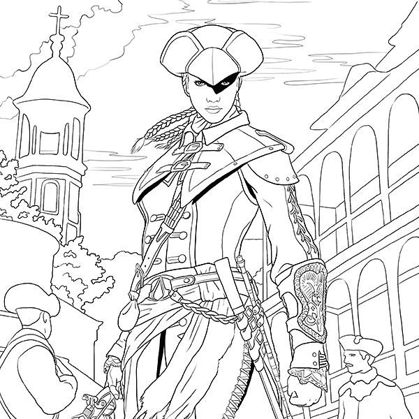 Assassin coloring #7, Download drawings