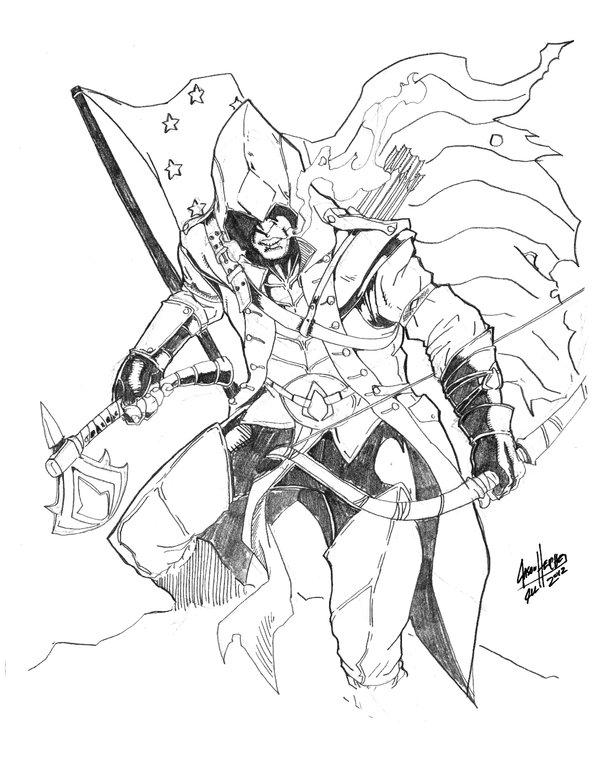 Assassin coloring #4, Download drawings