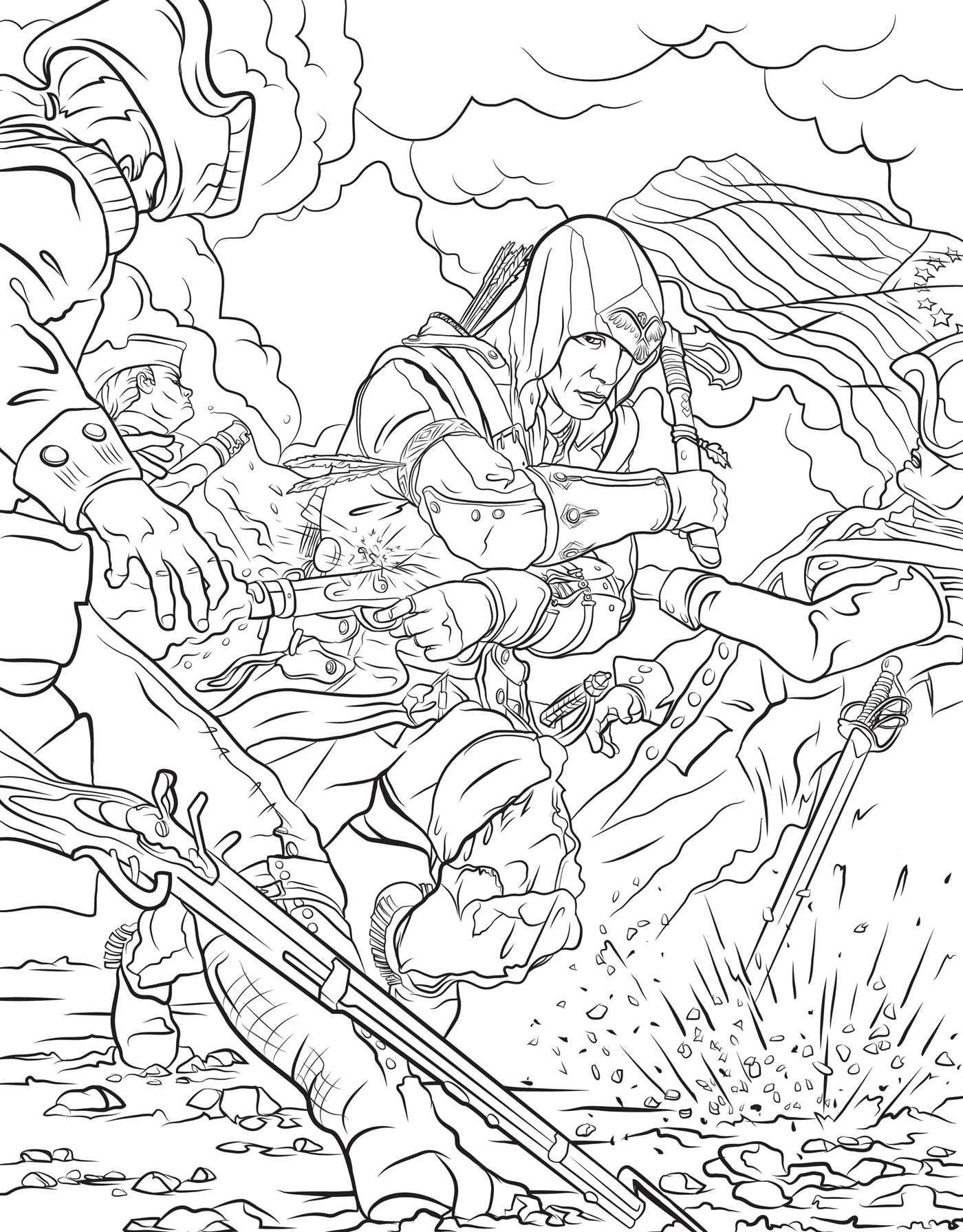 Assassin coloring #2, Download drawings