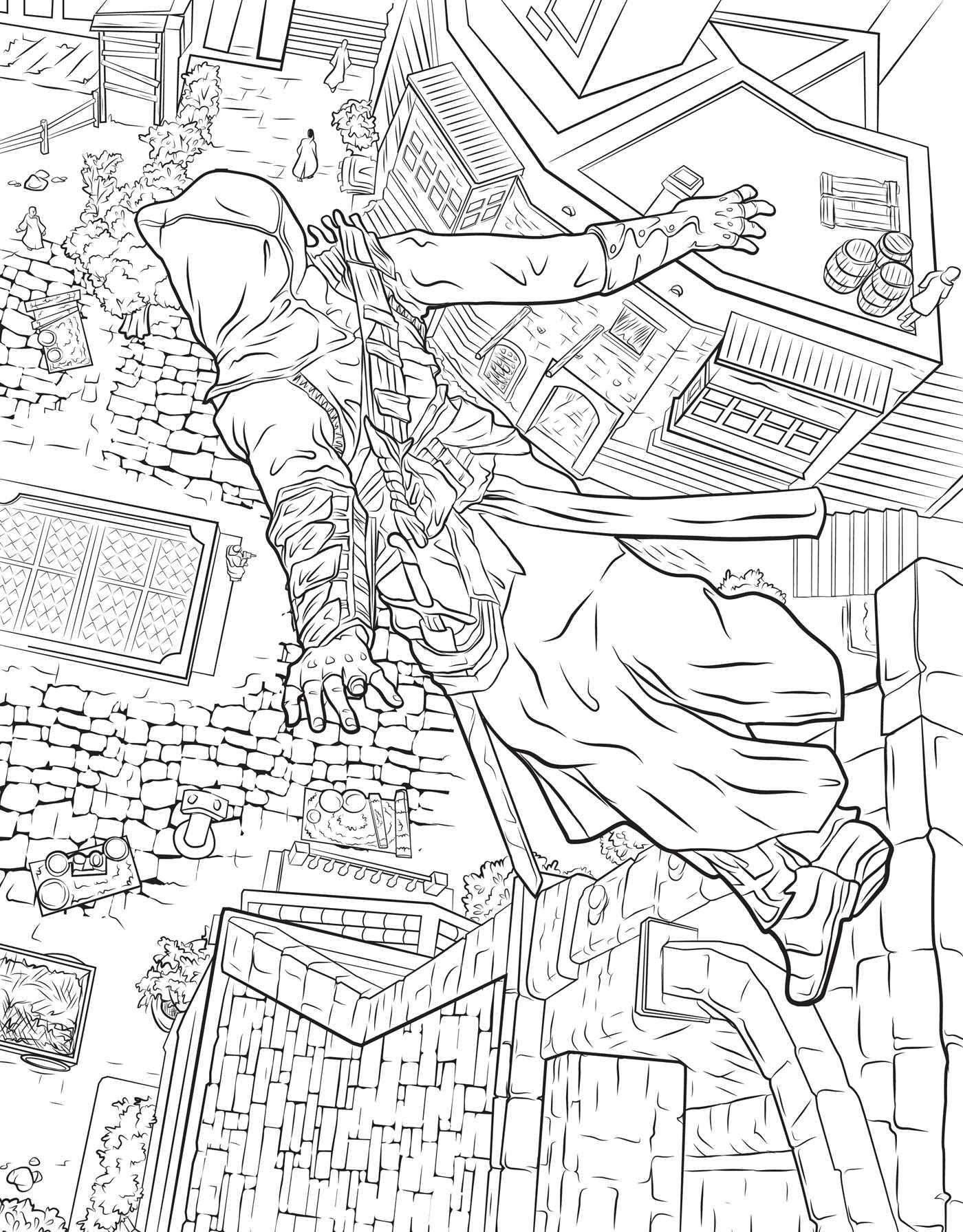 Assassin coloring #1, Download drawings