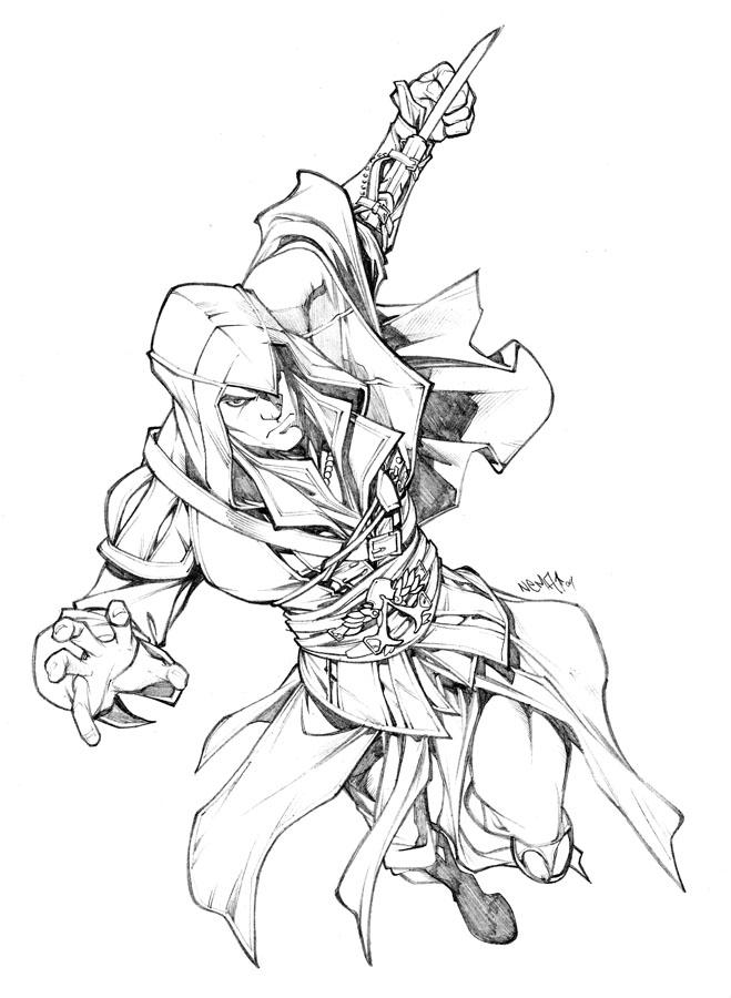Assassin coloring #3, Download drawings