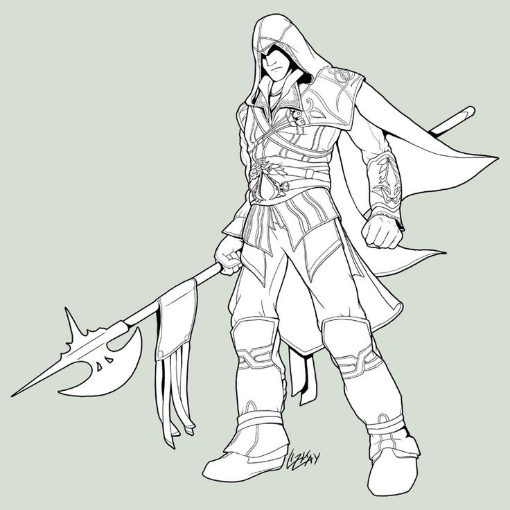 Assassin Coloring Download Assassin Coloring
