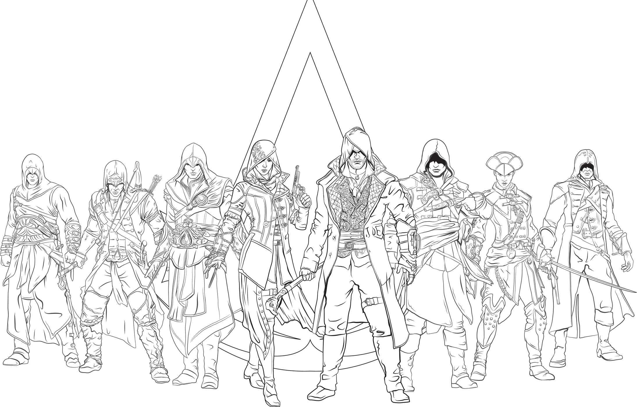 Assassin coloring #10, Download drawings