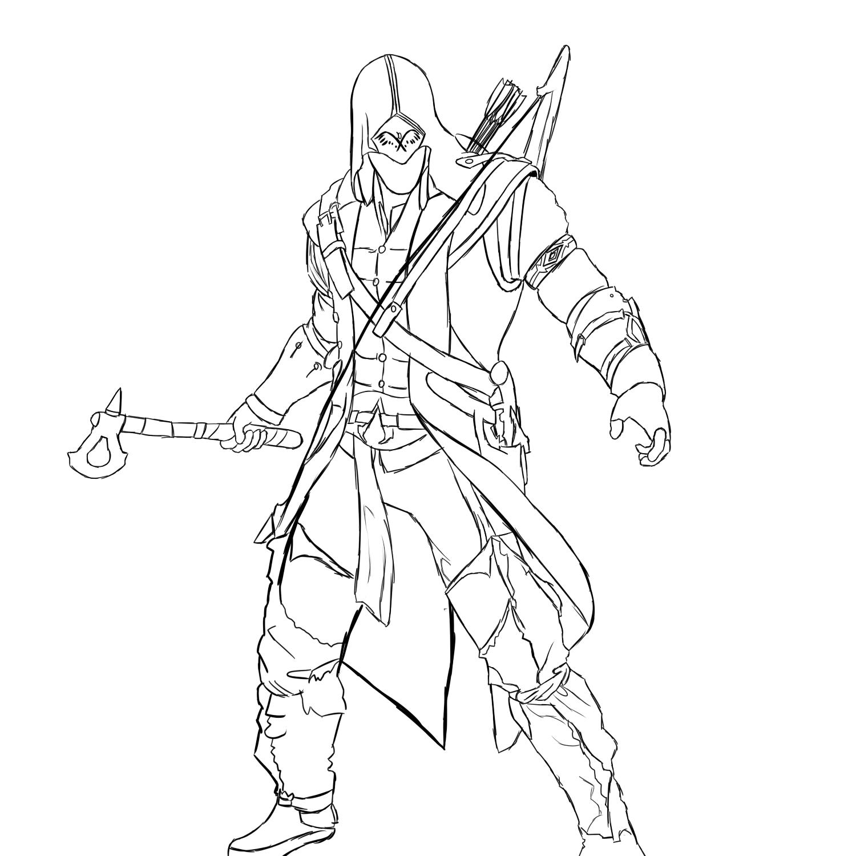 Assassin coloring #15, Download drawings