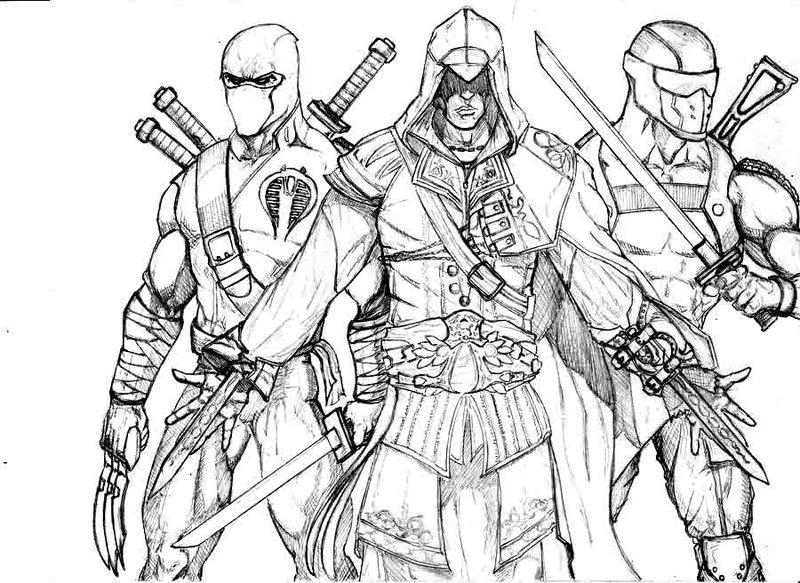 Assassin coloring #14, Download drawings