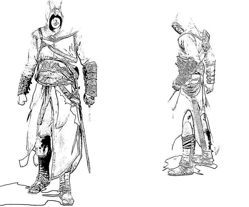 Assassin coloring #16, Download drawings