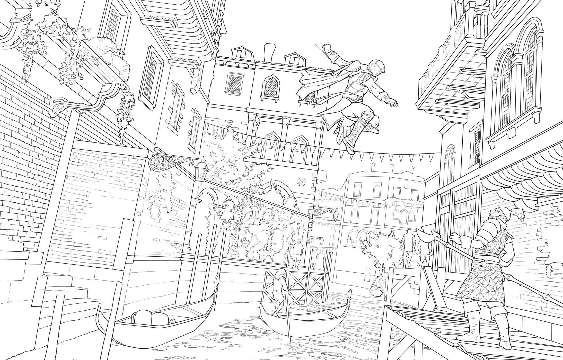 Assassin coloring #6, Download drawings