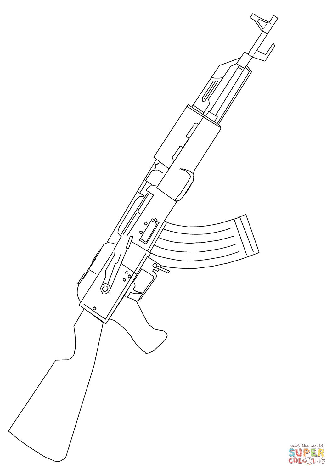 Assault Rifle coloring #18, Download drawings