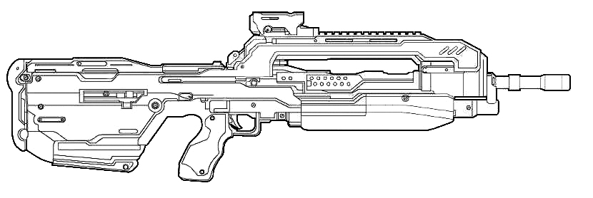 Assault Rifle coloring #11, Download drawings