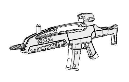 Assault Rifle coloring #6, Download drawings