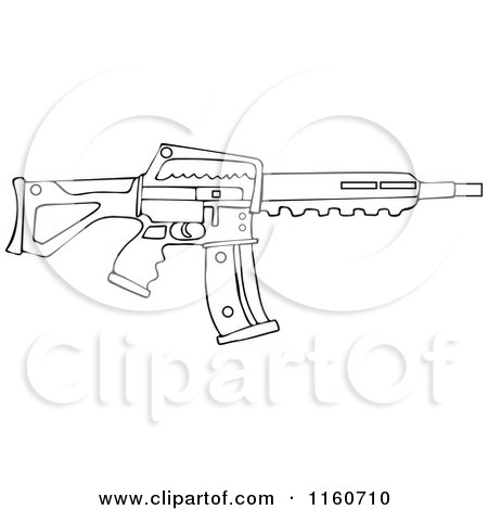 Assault Rifle coloring #5, Download drawings