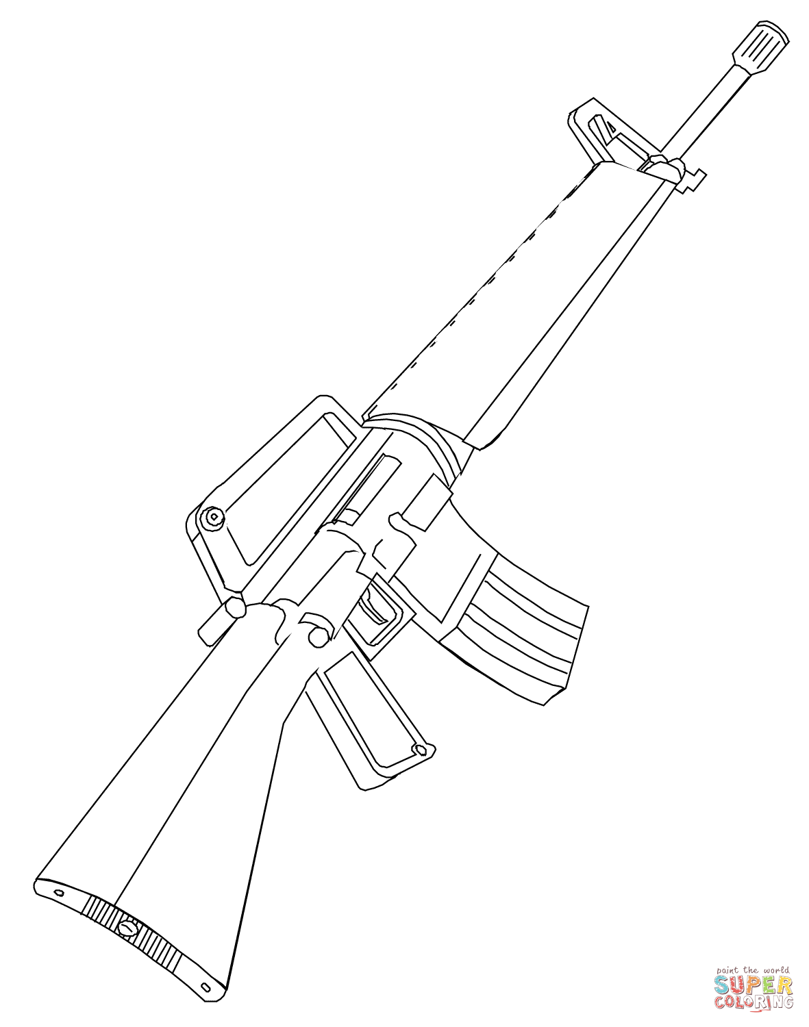 Assault Rifle coloring #20, Download drawings