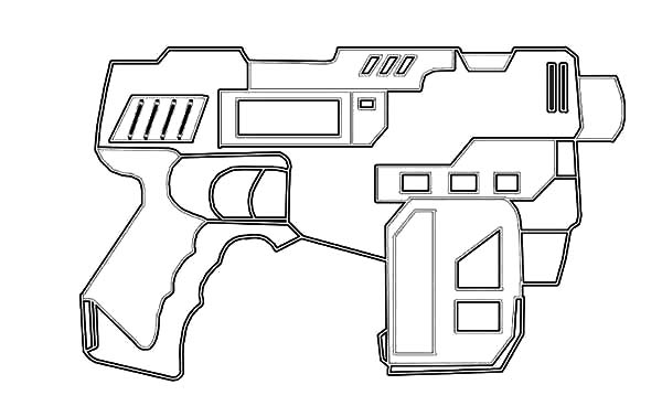 Assault Rifle coloring #7, Download drawings