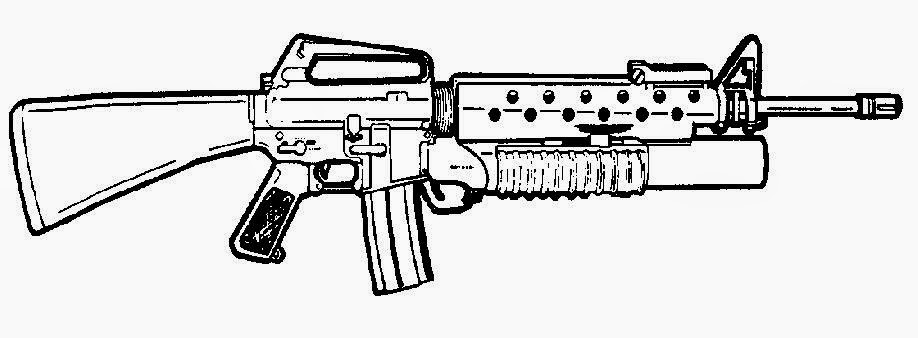 Assault Rifle coloring #4, Download drawings
