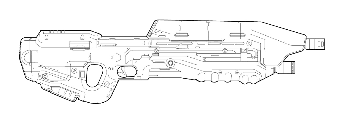 Assault Rifle coloring #13, Download drawings