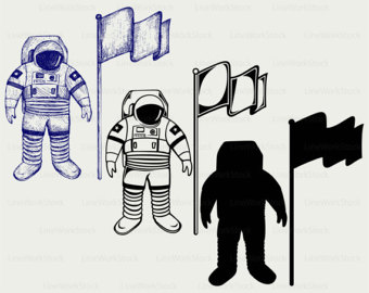 Astronaut svg #2, Download drawings