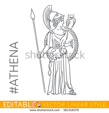 Athena (Deity) coloring #13, Download drawings