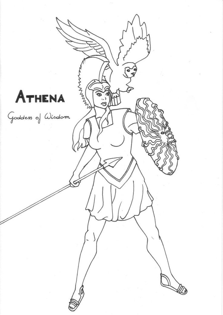 Athena (Deity) coloring #10, Download drawings