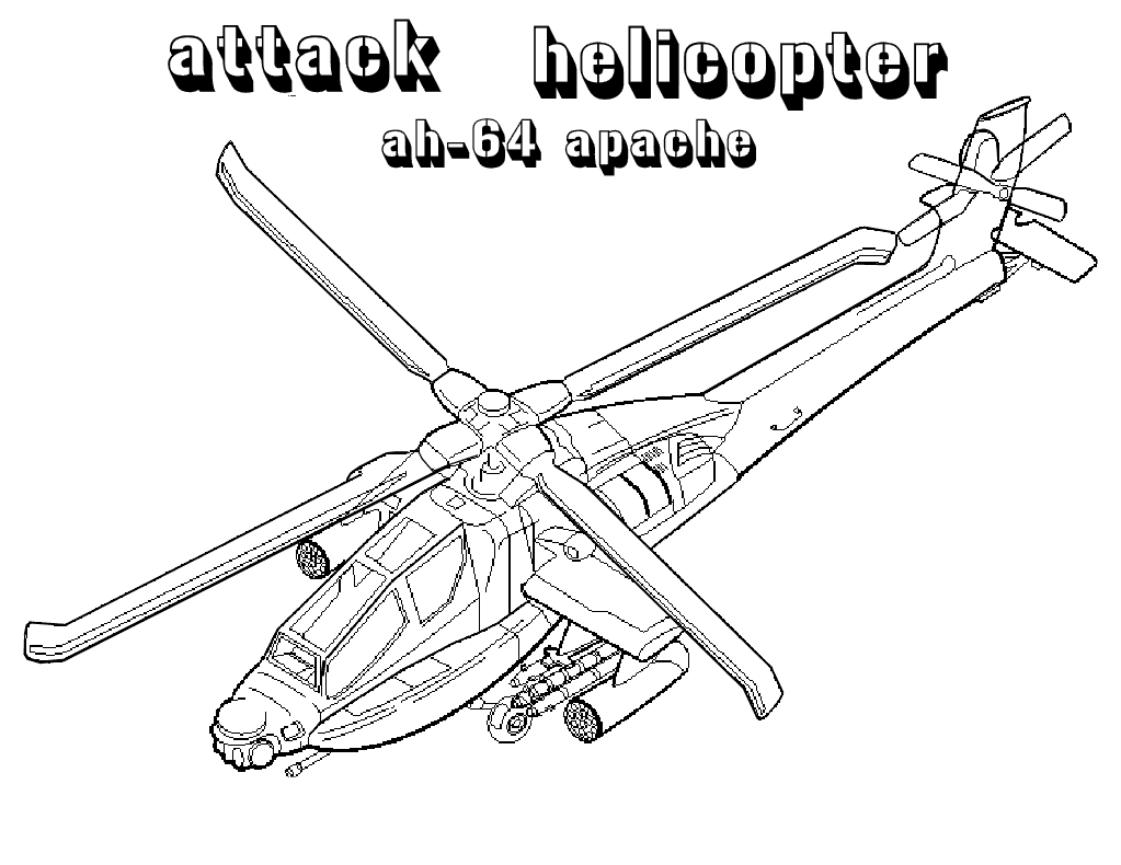 Attack Helicopter coloring #17, Download drawings