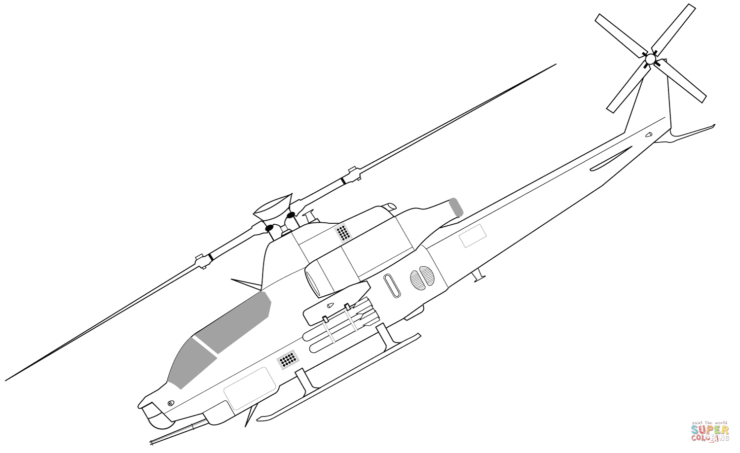 Attack Helicopter coloring #2, Download drawings