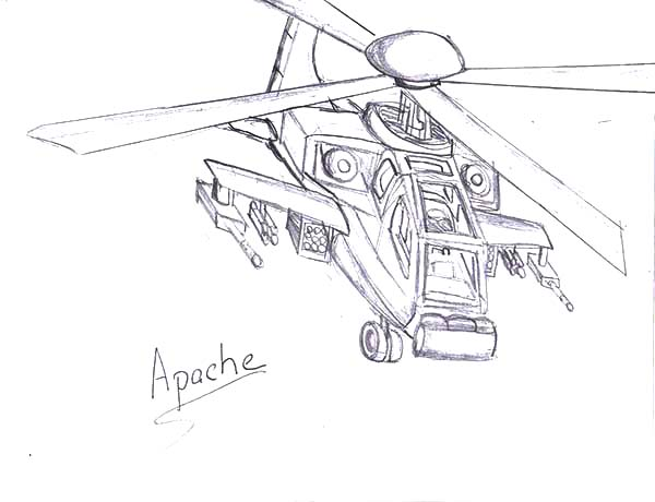 Attack Helicopter coloring #4, Download drawings