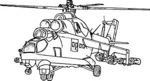Attack Helicopter coloring #13, Download drawings