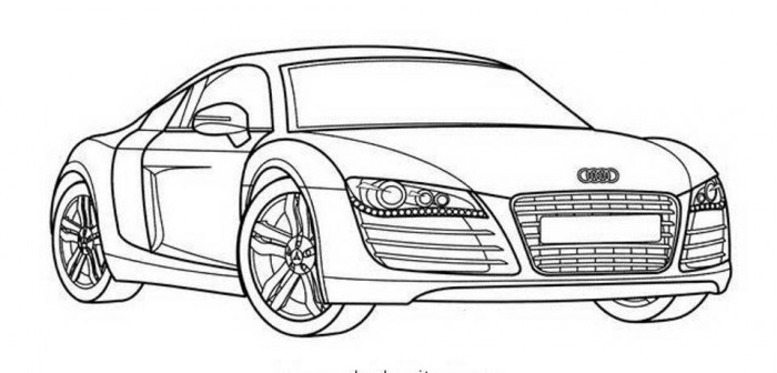 audi r8 coloring pages at getcoloringscom free sketch