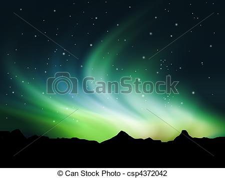 Aurora Borealis clipart #6, Download drawings