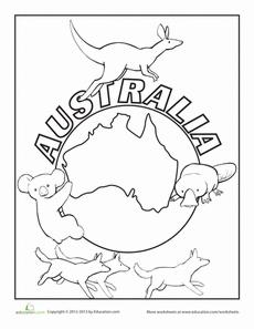 Australian coloring #20, Download drawings