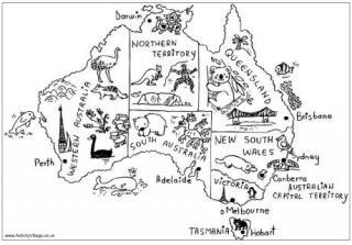 Australian coloring #18, Download drawings