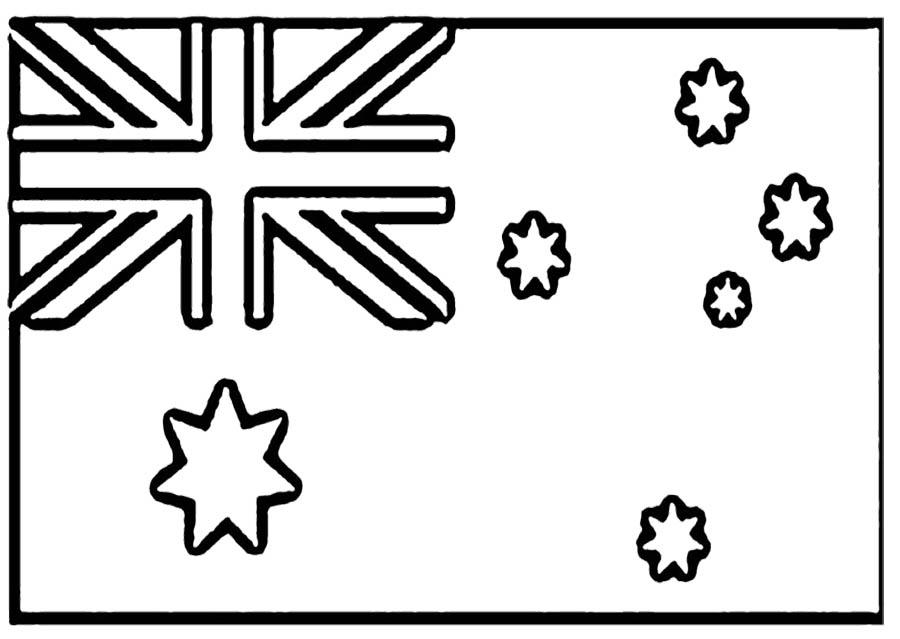 Australian Flag Printable Coloring Page
