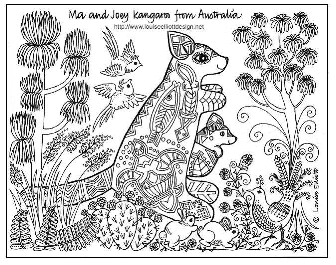 Australian coloring #10, Download drawings