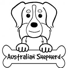 Australian Shepherd coloring #8, Download drawings