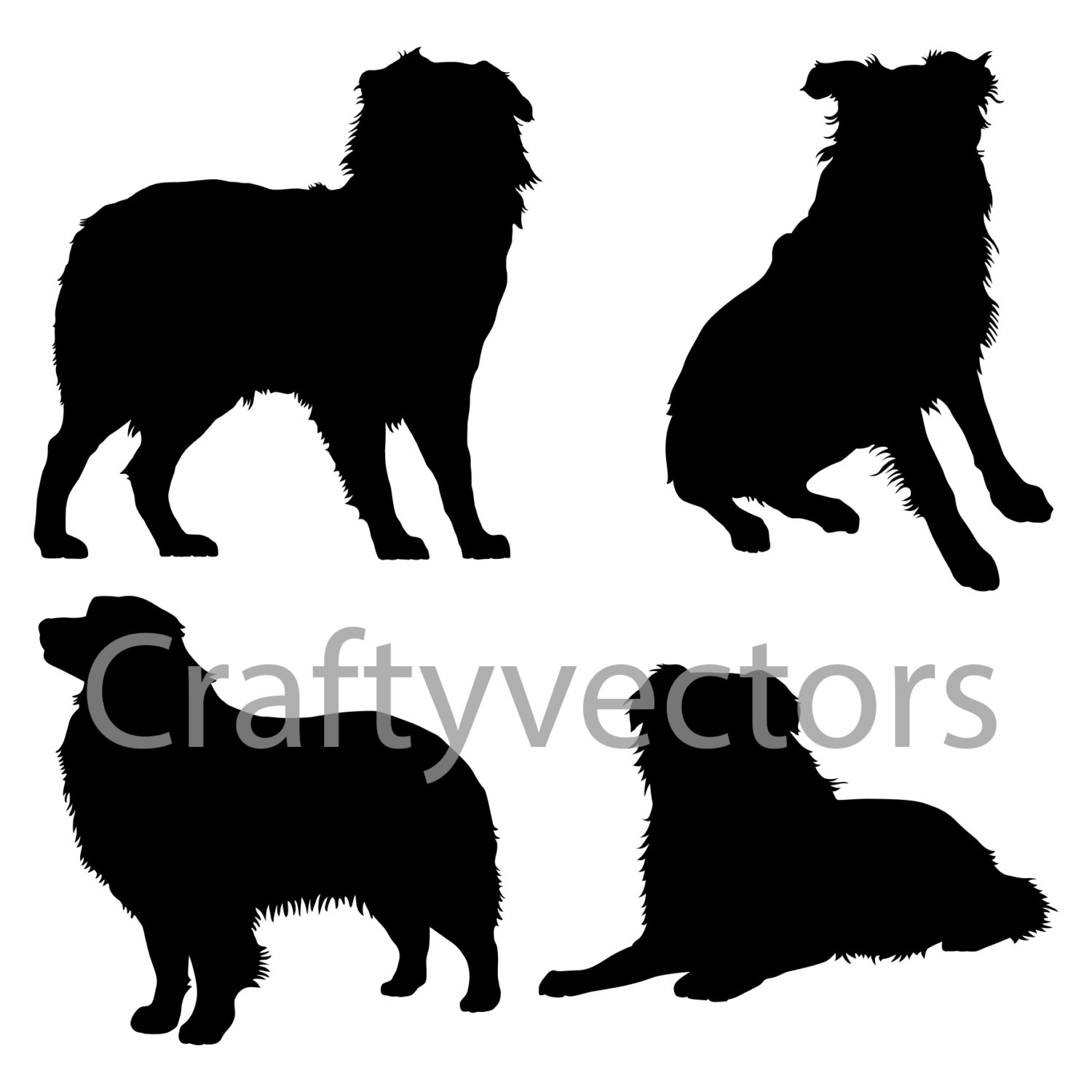 White Shepherd svg #14, Download drawings