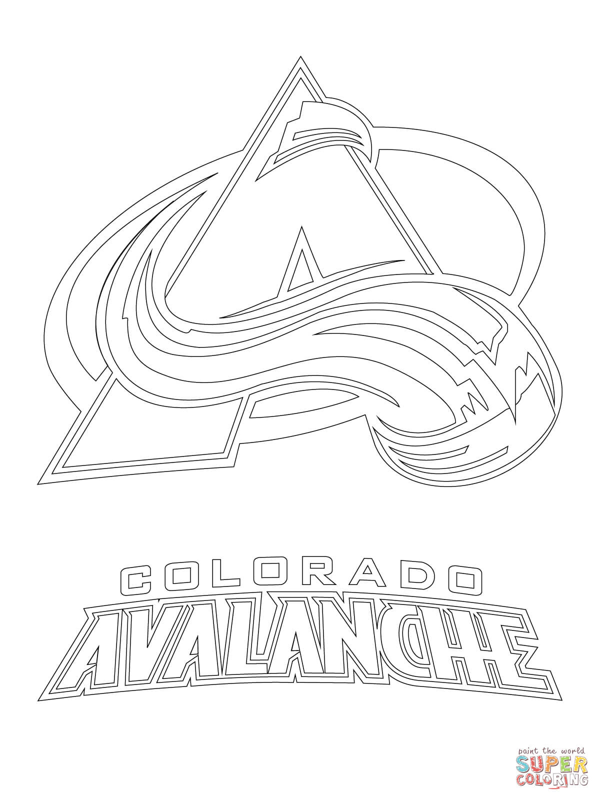 Avalanche coloring #8, Download drawings