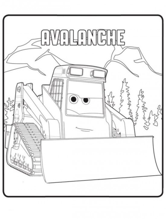 Avalanche coloring #10, Download drawings