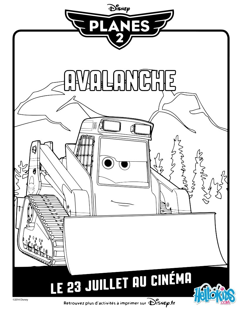 Avalanche coloring #2, Download drawings