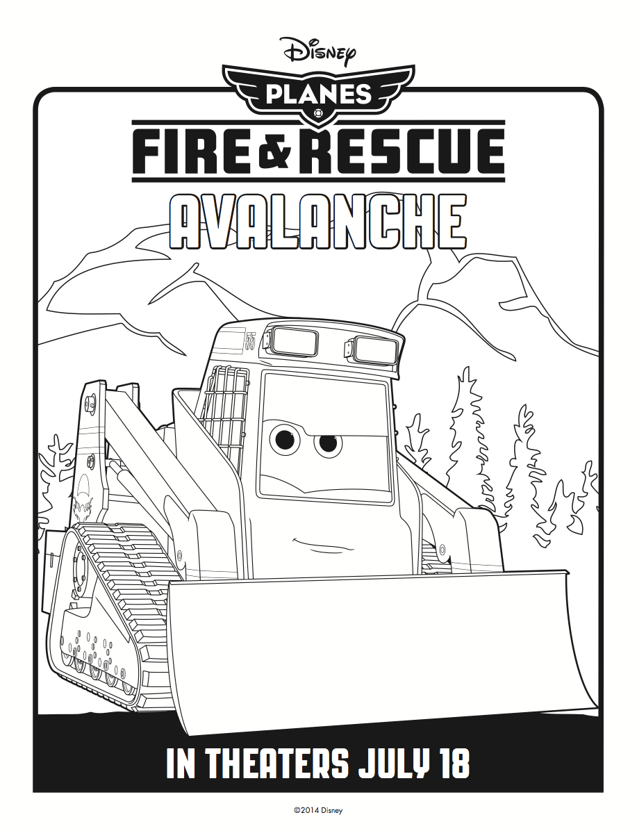 Avalanche coloring #3, Download drawings