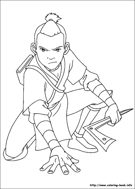Avatar: The Last Airbender coloring #2, Download drawings