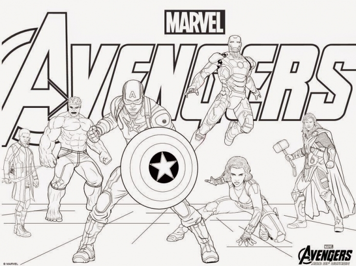 Avengers coloring #4, Download drawings