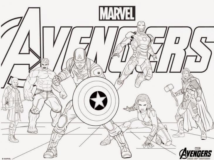 Avengers coloring #17, Download drawings