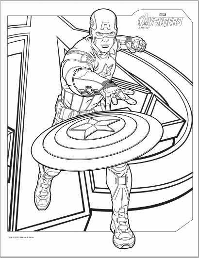 Avengers coloring #2, Download drawings