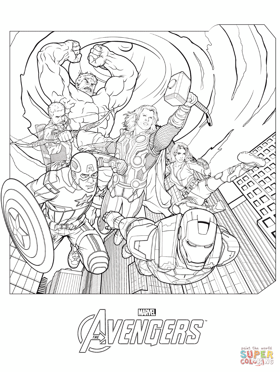 Avengers coloring #6, Download drawings