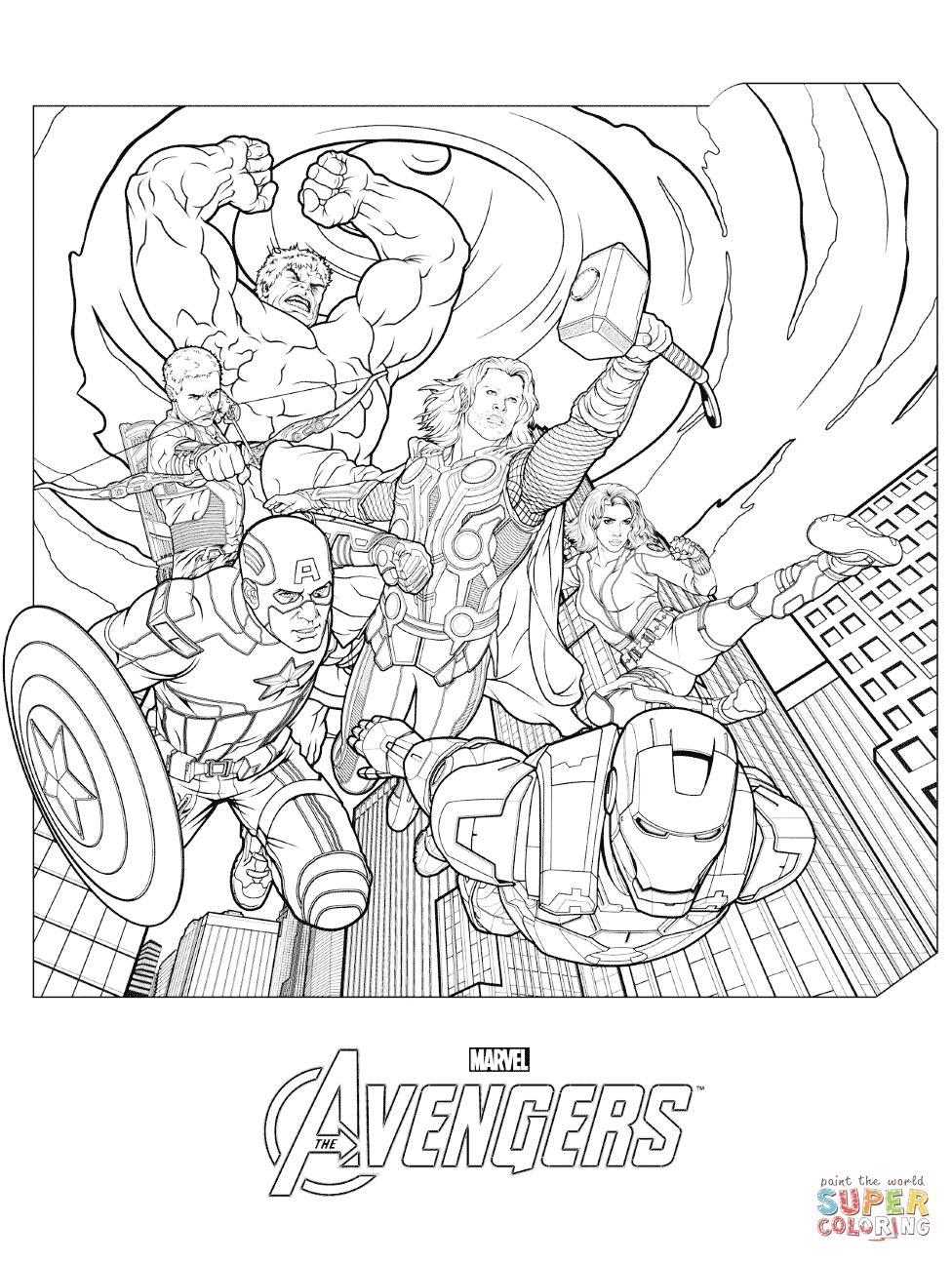 Avengers coloring #15, Download drawings