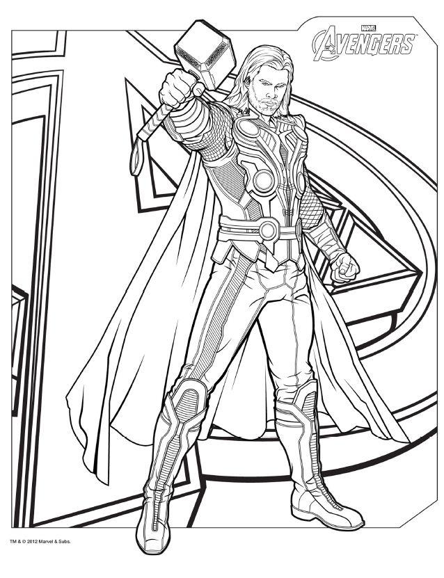 Avengers coloring #11, Download drawings