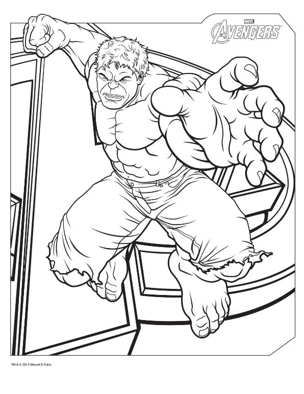 Avengers coloring #4, Download drawings
