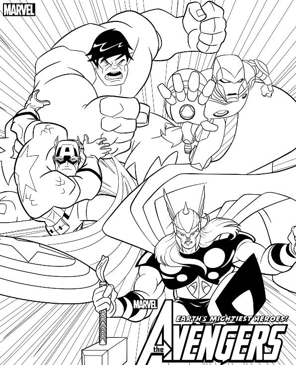 Avengers coloring #12, Download drawings