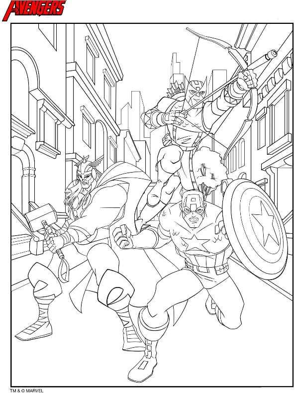 Avengers coloring #7, Download drawings